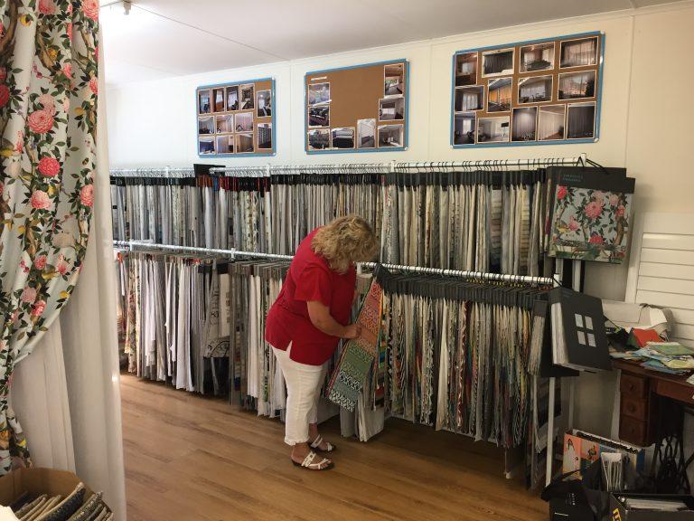 Total Curtain's showroom